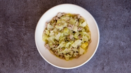 Thumbnail image for Caraway Cabbage Stew with Ground Turkey