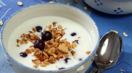 Thumbnail image for Chai-Scented Granola with Kefir and Blueberries
