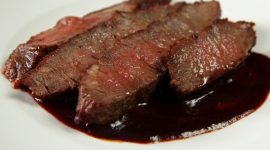 Thumbnail image for Flat Iron Steak with Red Wine Sauce and My View West