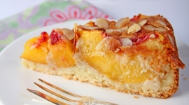 Thumbnail image for A Warm Welcome Back With A German Almond Peach Cake!