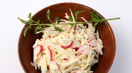 Thumbnail image for German Kohlrabi-Apple-Radish Salad