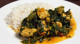 Thumbnail image for Indian Spiced Chicken with Spinach