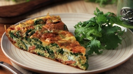 Thumbnail image for Kale Frittata &#8211; A Healthy Breakfast Casserole