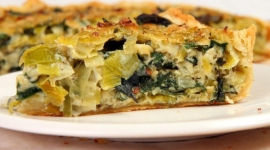 Thumbnail image for Leek and Red Chard Tart
