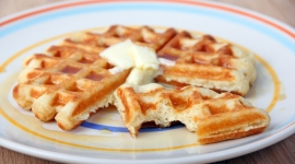 Thumbnail image for Nico's Favorite Yeast Waffles