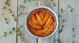 Thumbnail image for Peach Tart with Thyme Sugar