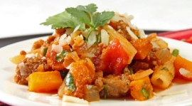 Thumbnail image for Penne with Indian Spiced Lamb and Roasted Butternut Squash