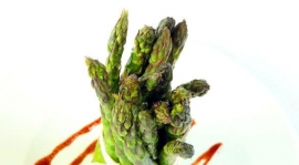 Thumbnail image for Pomegranate Vinaigrette on Roasted Asparagus
