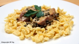Thumbnail image for Pork Tenderloin with Green Peppercorn Sauce