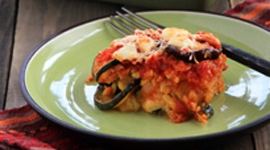 Thumbnail image for Roasted Veggie Rice Bake