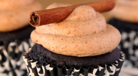 Thumbnail image for Celebrating two years of blogging with Spicy Chocolate Cupcakes filled with Nutella Chili Chocolate Ganache and Chili Cream Cheese Frosting
