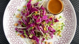 Thumbnail image for Spicy Red Cabbage Kohlrabi Salad