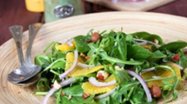 Thumbnail image for Starting 2012 Happy & Healthy with an Orange-Spinach-Arugula Salad