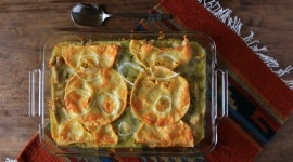 Thumbnail image for Stacked Green Chile Chicken Enchiladas