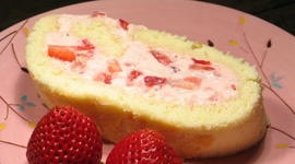 Thumbnail image for Strawberry Sponge Cake Roll