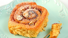 Thumbnail image for Sweet Potato Cinnamon Buns with Hazelnuts