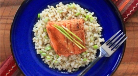 Thumbnail image for Thai Red Curry Salmon &#038; Coconut Brown Rice