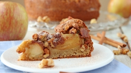 Thumbnail image for Walnut Apple Cake (gluten free)