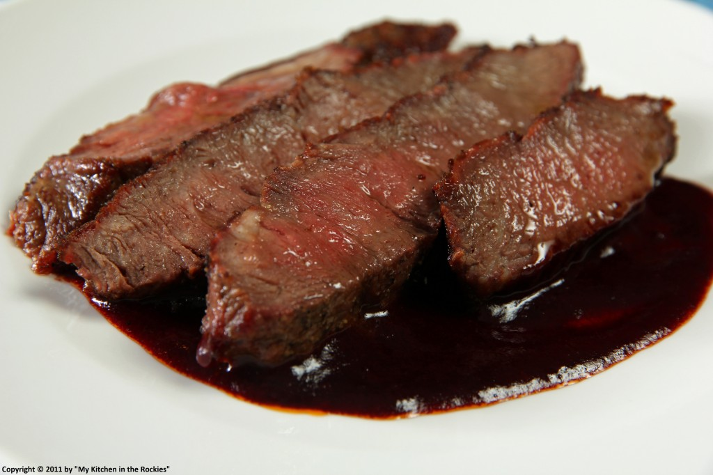 056 a 1024x682 Flat Iron Steak with Red Wine Sauce and My View West