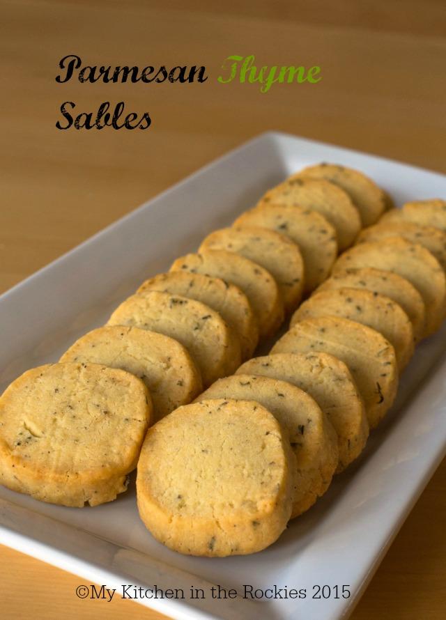 Parmesan Thyme Sables