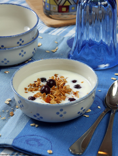 013+a7 Chai Scented Granola with Kefir and Blueberries