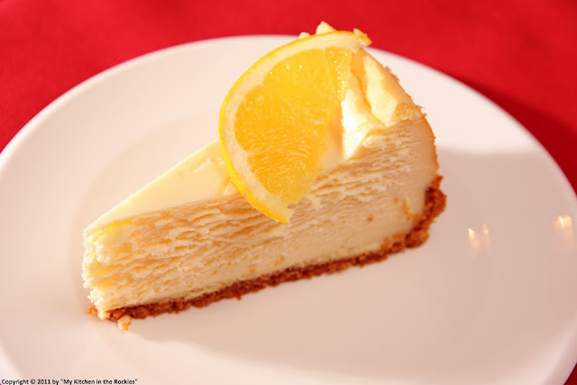 025+a1 Orange Flavored New York Style Cheesecake