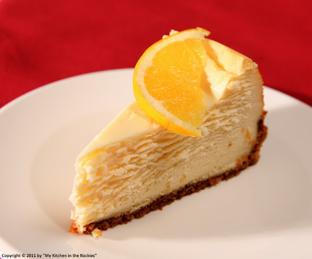 026+a Orange Flavored New York Style Cheesecake