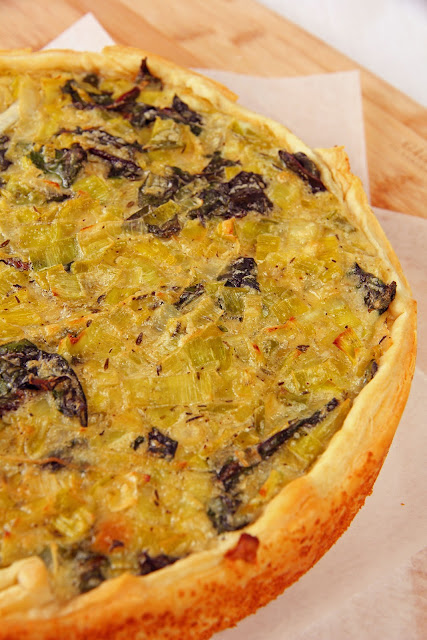 026+a1 Leek and Red Chard Tart
