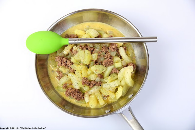 026+a3 Schmorgurken Hackfleisch Pfanne/ German Cucumber Ground Beef Stir Fry