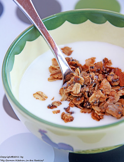 026+a6 Chia Seed Granola with Walnuts and Almonds