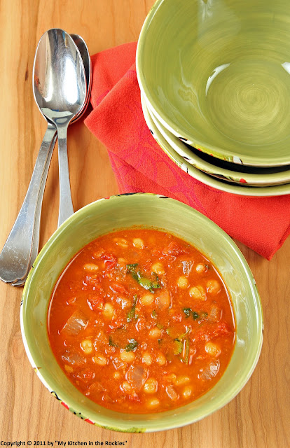 037+a Chickpeas and Navy Beans in Spicy Tomato Sauce (Indian)