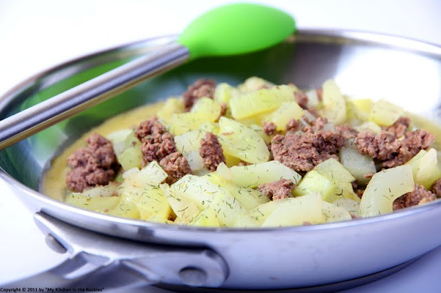 039+b Schmorgurken Hackfleisch Pfanne/ German Cucumber Ground Beef Stir Fry