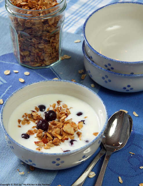 045+a6 Chai Scented Granola with Kefir and Blueberries