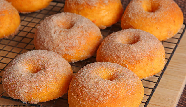 Cinnamon Baked Sweet Potato Doughnuts - My Kitchen in the Rockies | A ...