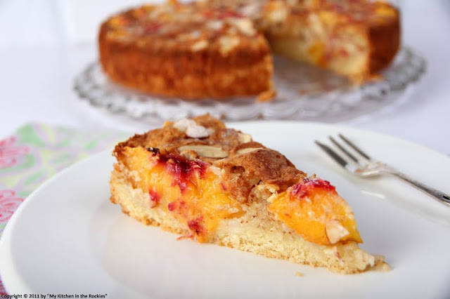 052+a2 A Warm Welcome Back With A German Almond Peach Cake!