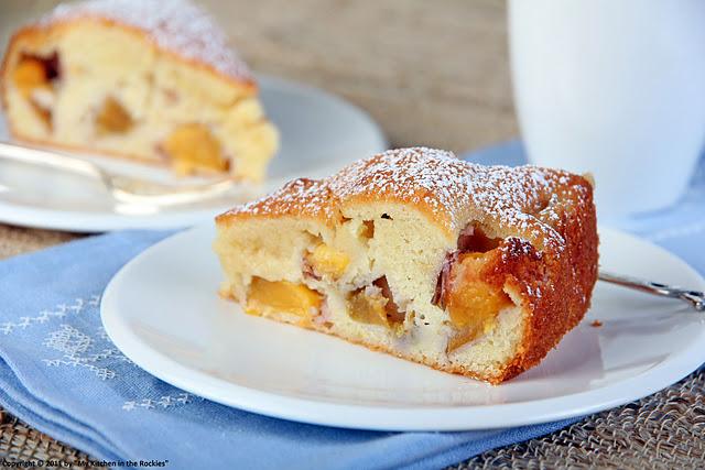 053+a2 Gâteau Fondant Aux Nectarines   Moist Nectarine Cake