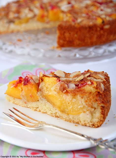 057+a1 A Warm Welcome Back With A German Almond Peach Cake!