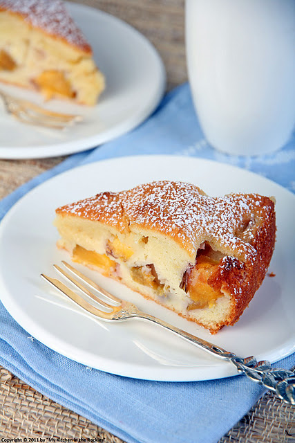 060+a Gâteau Fondant Aux Nectarines   Moist Nectarine Cake