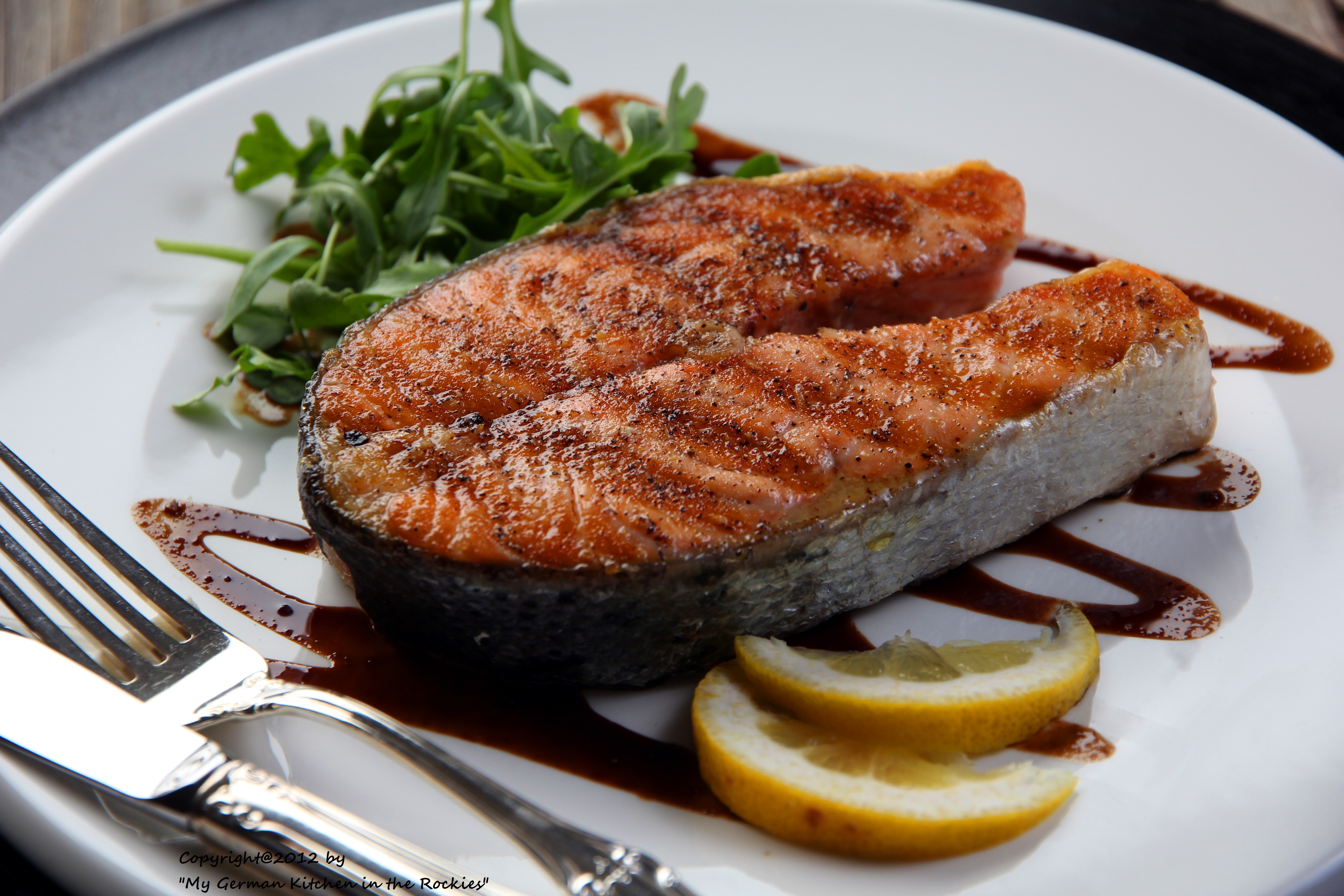 Salmon balsamic glaze balsamic vinegar sustainable fish for Is fish meat