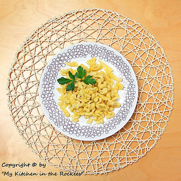 126 a 600 Copy1 Sptzle (German Noodle Dish)