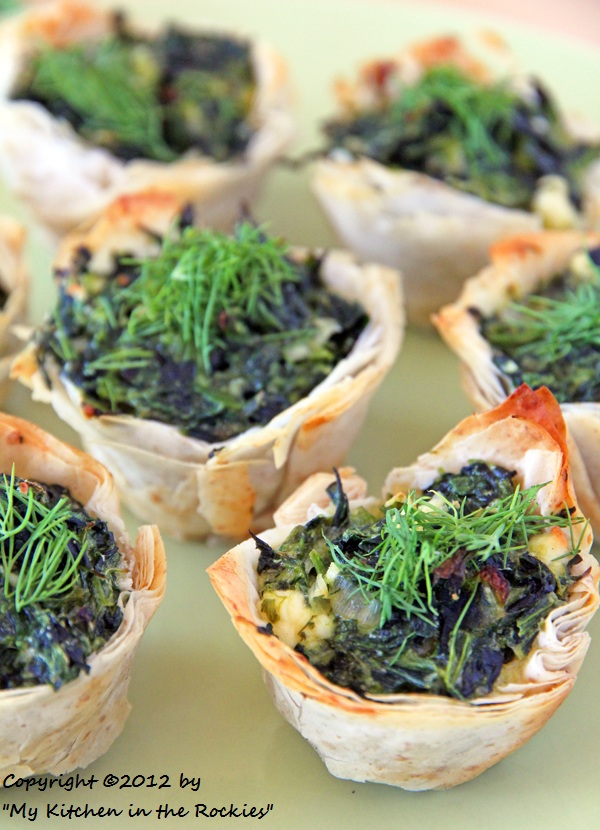 009 a 600 Spanakopita Cups Appetizer Recipe