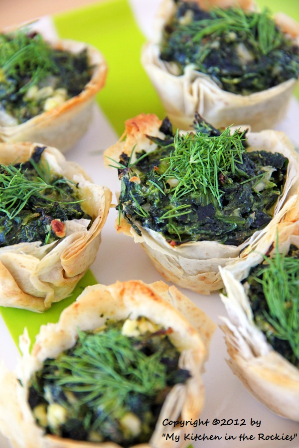 016 a 600 Spanakopita Cups Appetizer Recipe