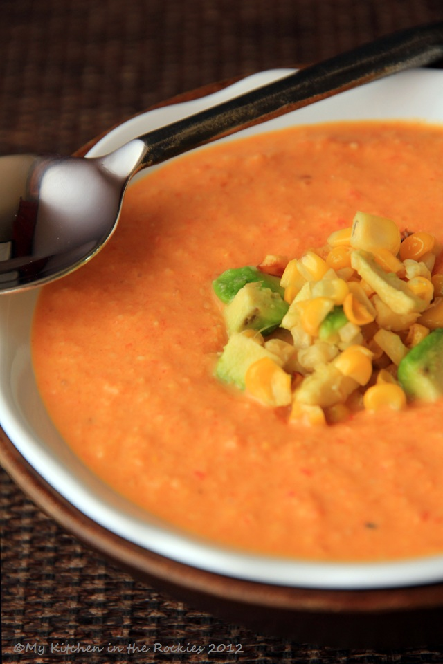 Spicy Roasted Corn Soup with Bell Pepper and Tomatoes Colorado Denver ...