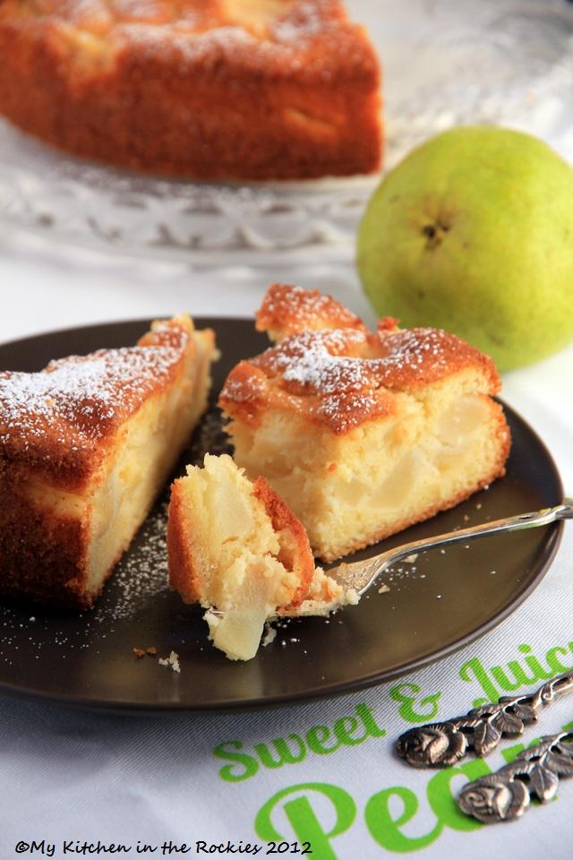 G%C3%A2teau Fondant Aux Poires French Pear Cake2  Easy French Dessert   Gâteau Fondant Aux Poires   French Pear Tart