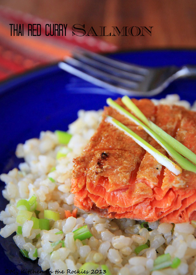 Thai Red Curry Salmon & Coconut Brown Rice