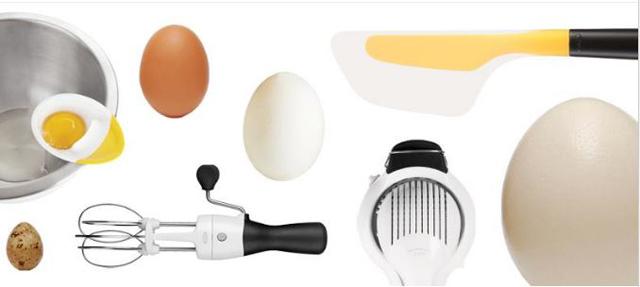 egg tools oxo Springy Pea Cakes