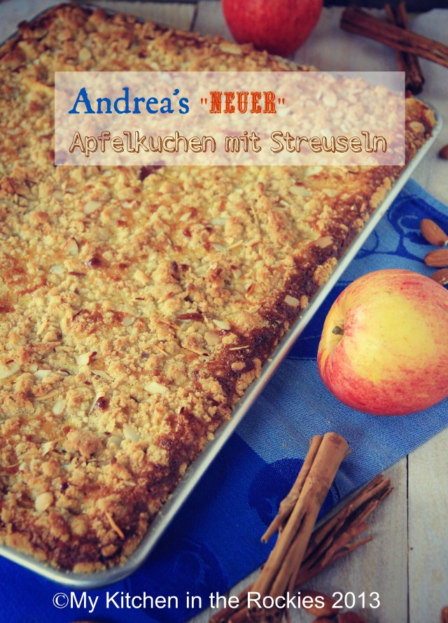 Andrea's German Apple Cake with Rahm Filling and Streusel