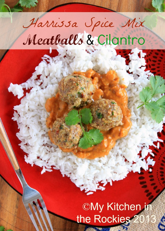 011a640blog Harissa Spice Mix Meatballs with Cilantro