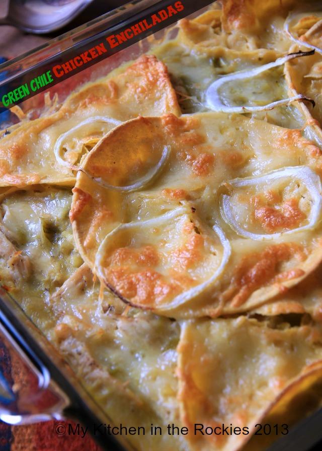 Stacked Green Chile Chicken Enchiladas