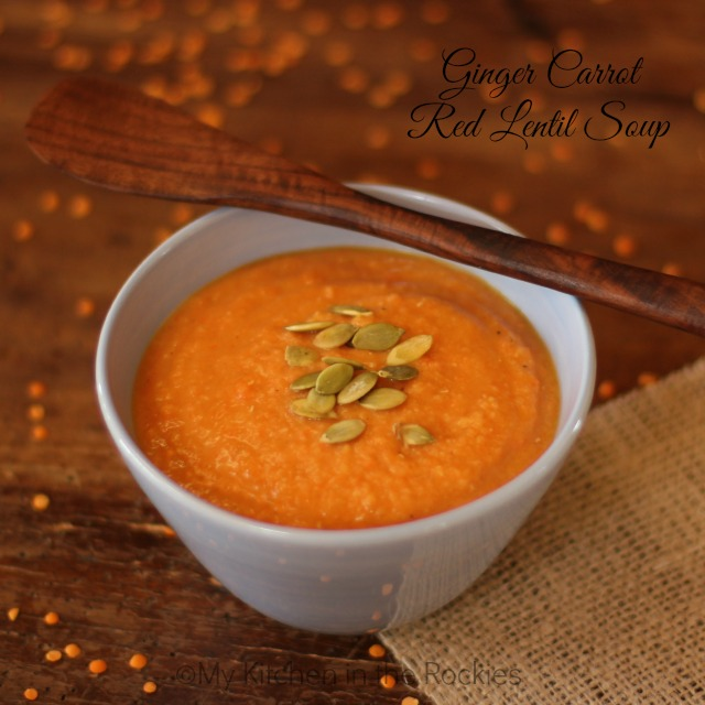 Ginger Carrot Red Lentil Soup